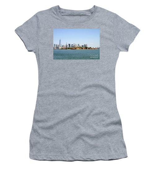 Ellis Island New York City Women's T-Shirt (Athletic Fit)