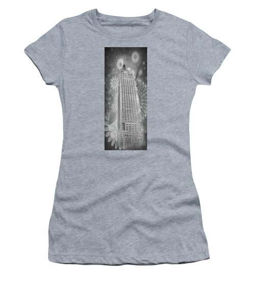 Women's T-Shirt featuring the photograph Empire State Building by Angie Tirado