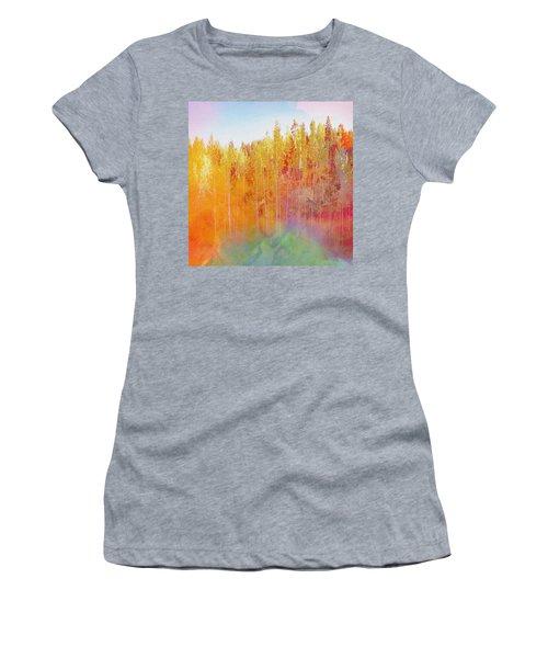 Women's T-Shirt (Junior Cut) featuring the digital art Enchanted Scenery #3 by Klara Acel