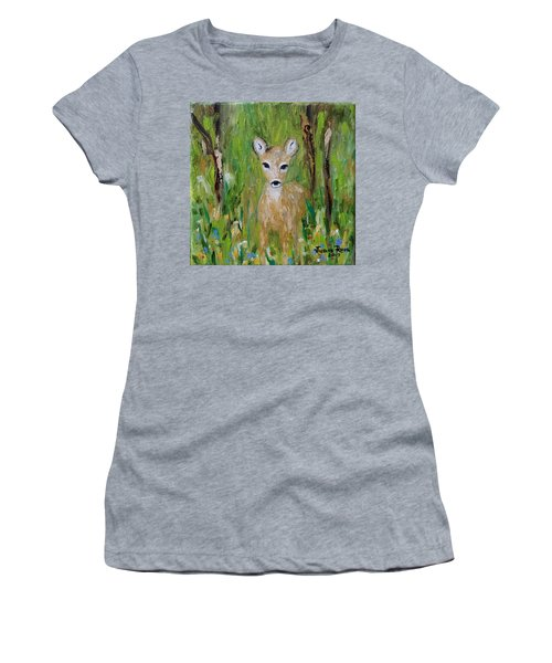 Women's T-Shirt (Athletic Fit) featuring the painting Enchantment by Judith Rhue