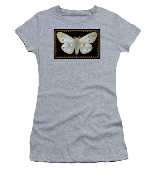 Women's T-Shirt (Junior Cut) featuring the painting Encryption by Laurie Stewart