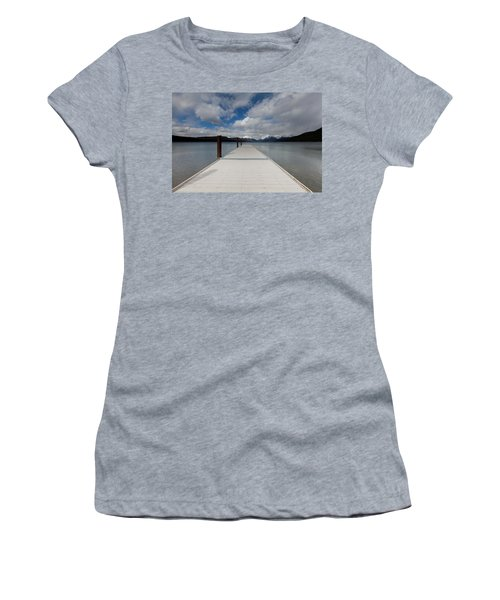 End Of The Dock Women's T-Shirt (Junior Cut) by Fran Riley