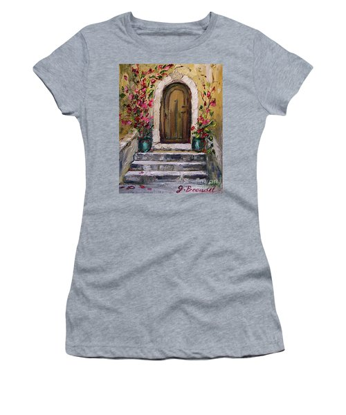 Enter Here Women's T-Shirt (Junior Cut) by Jennifer Beaudet