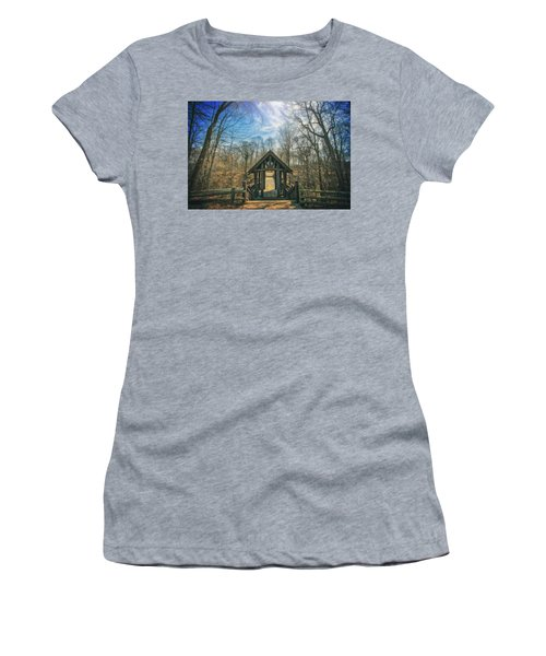 Entrance To Seven Bridges - Grant Park - South Milwaukee #3 Women's T-Shirt (Junior Cut) by Jennifer Rondinelli Reilly - Fine Art Photography