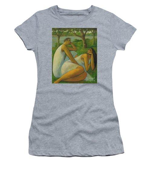 Eros And Rhea Women's T-Shirt (Junior Cut) by Glenn Quist