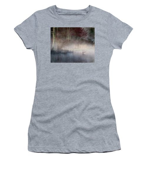 Women's T-Shirt (Junior Cut) featuring the photograph Ethereal Goose by Bill Wakeley