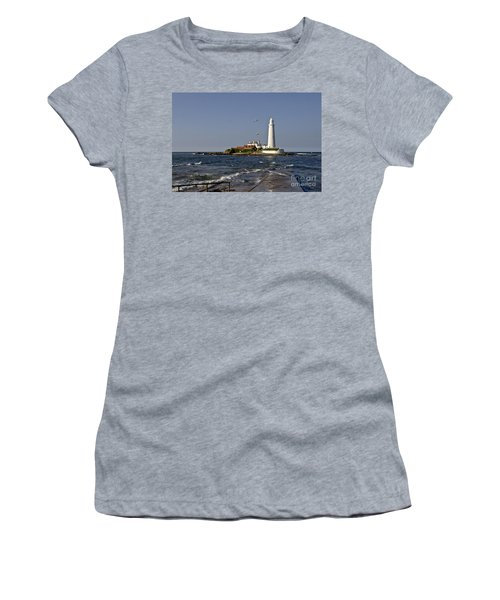 Evening At St. Mary's Lighthouse Women's T-Shirt
