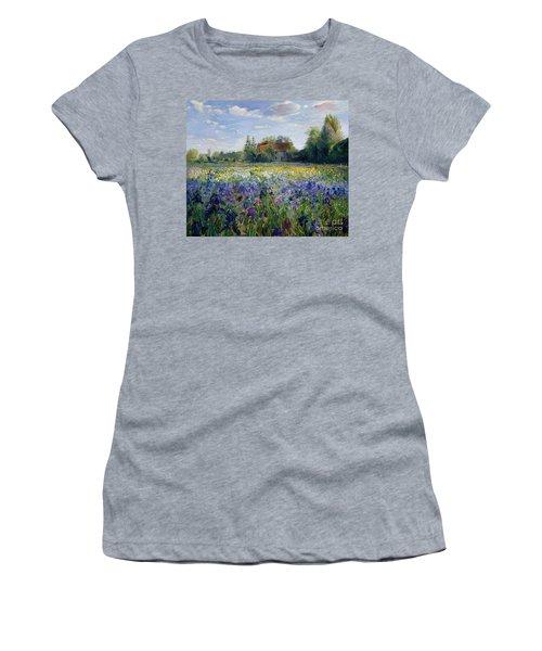 Evening At The Iris Field Women's T-Shirt