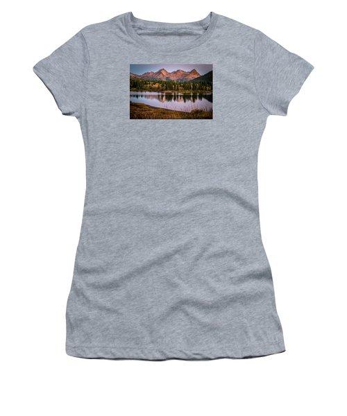 Evening Glow At Molas Lake Women's T-Shirt (Junior Cut) by Michael J Bauer