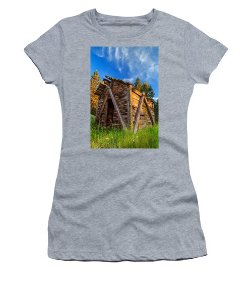 Evening Light On An Old Cabin Women's T-Shirt (Athletic Fit)