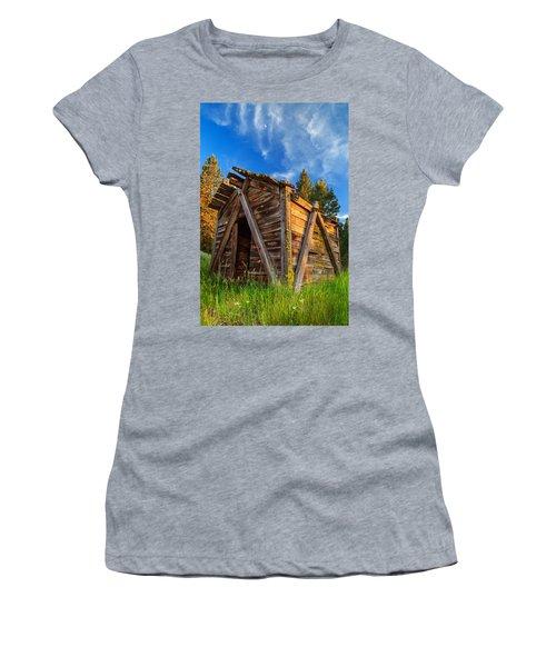 Evening Light On An Old Cabin Women's T-Shirt