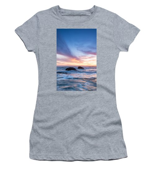 Evening Waves Women's T-Shirt (Junior Cut) by Catherine Lau