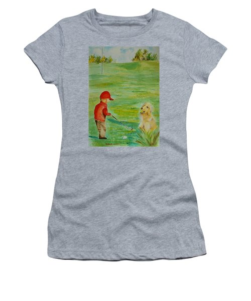 Everything Waits While I Golf Art Women's T-Shirt (Athletic Fit)