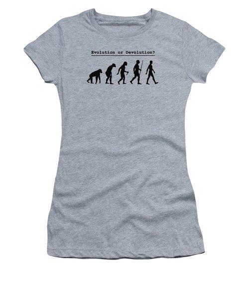 Evolution Or Devolution Women's T-Shirt (Athletic Fit)