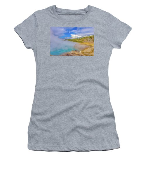 Excelsior Geyser Crater Yellowstone Women's T-Shirt (Athletic Fit)