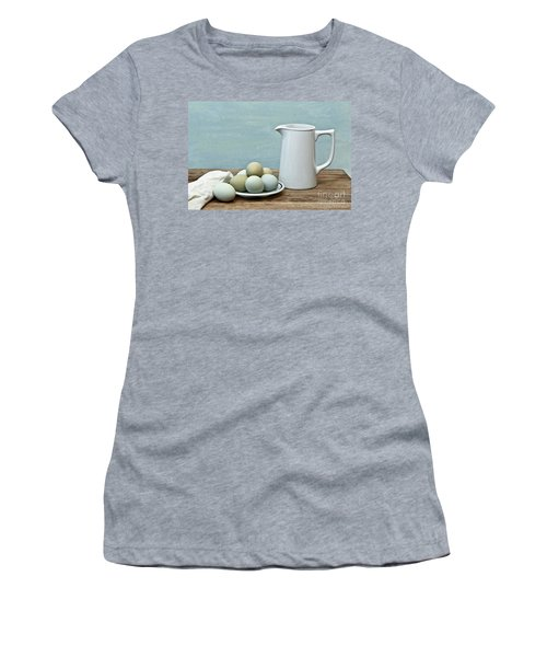 Exotic Colored Eggs With Pitcher Women's T-Shirt (Athletic Fit)