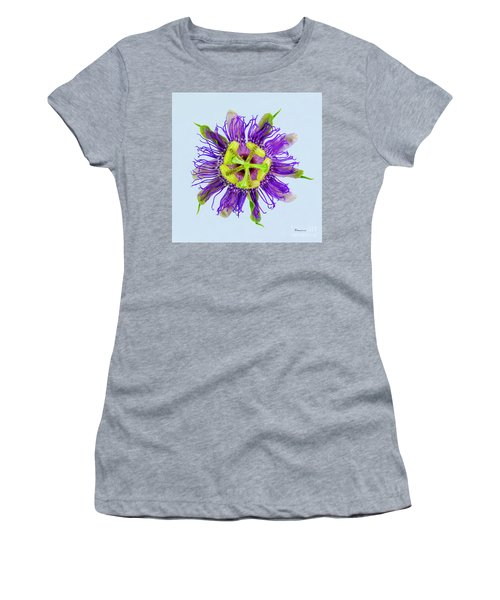 Expressive Yellow Green And Violet Passion Flower 50674b Women's T-Shirt