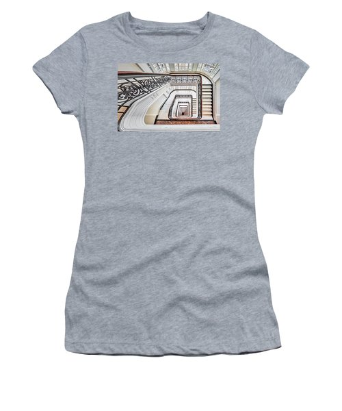 Women's T-Shirt (Athletic Fit) featuring the photograph Exquisite Staircase Nyc  by Susan Candelario