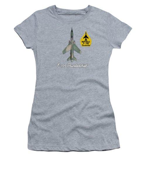 F-105d Thunderchief With Yellow Arrowhead Women's T-Shirt