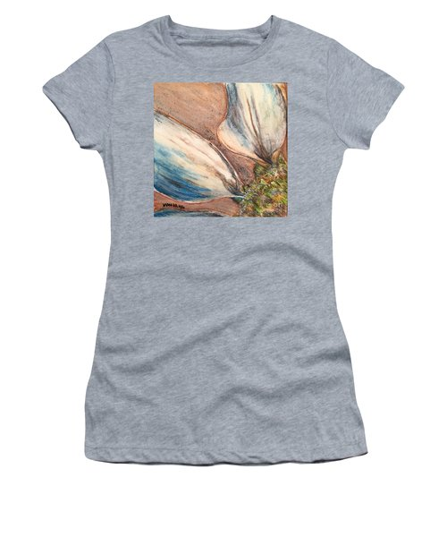 Women's T-Shirt (Junior Cut) featuring the drawing Faded Glory  by Vonda Lawson-Rosa