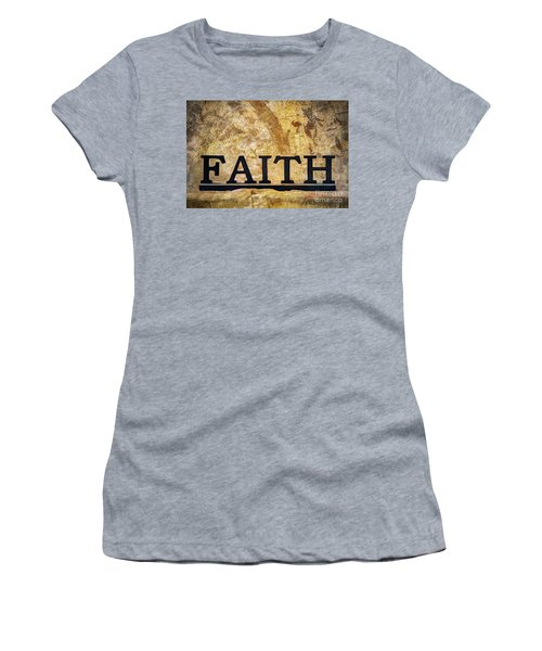 Faith Women's T-Shirt (Junior Cut) by Randy Steele