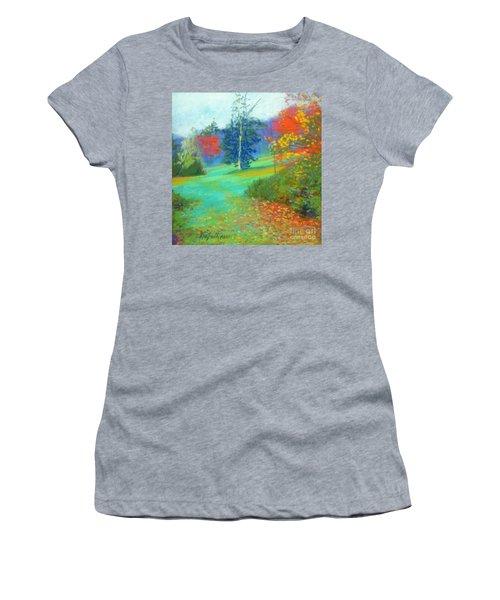 Fall Across The Field  Women's T-Shirt (Junior Cut) by Rae  Smith PAC