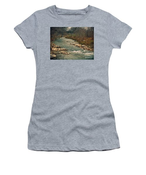 Fall Along The River Women's T-Shirt (Athletic Fit)