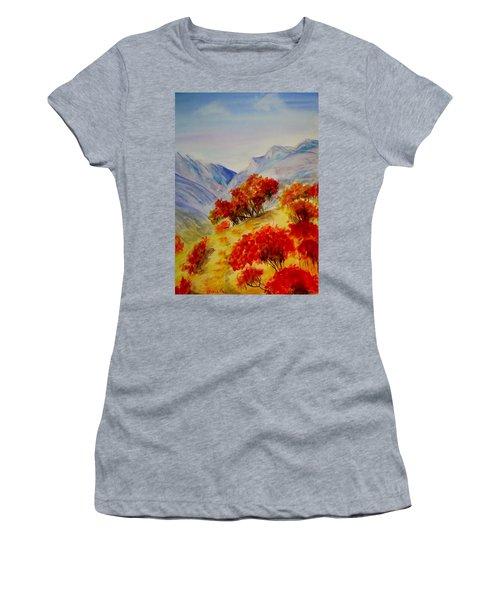 Fall Color Women's T-Shirt (Junior Cut) by Jamie Frier