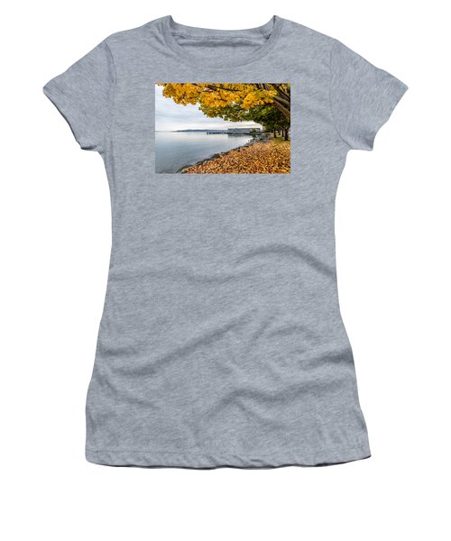 Fall Colors Framing Commencement Bay Women's T-Shirt