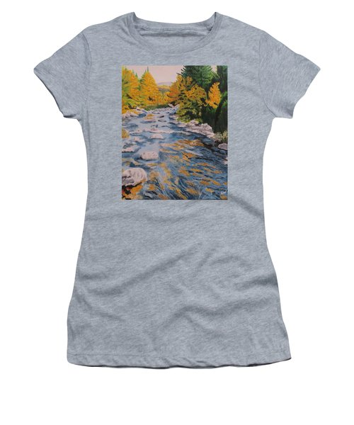 Women's T-Shirt (Junior Cut) featuring the painting Fall Is Coming by Hilda and Jose Garrancho