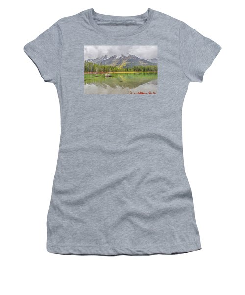 Fall Morning Along String Lake Women's T-Shirt (Athletic Fit)