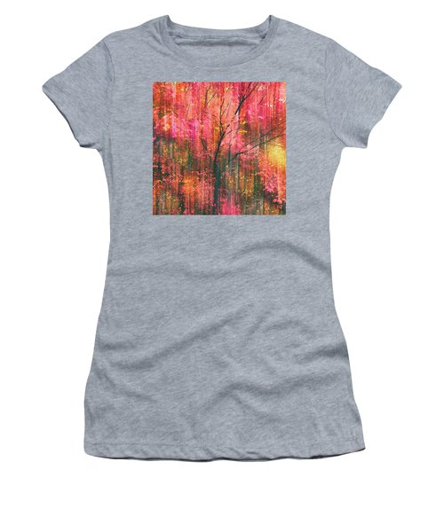 Women's T-Shirt featuring the photograph Falling Into Autumn by Jessica Jenney
