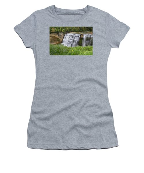 Autumn Flower Of Letchworth Middle Falls Women's T-Shirt (Athletic Fit)