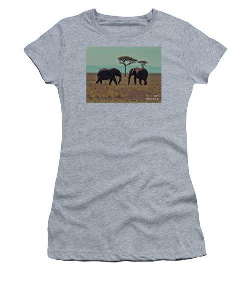 Women's T-Shirt (Junior Cut) featuring the photograph Family by Karen Lewis