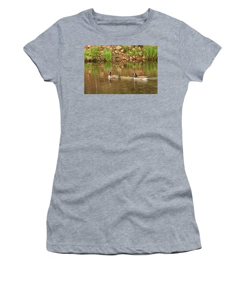 Family Of Geese Women's T-Shirt (Athletic Fit)