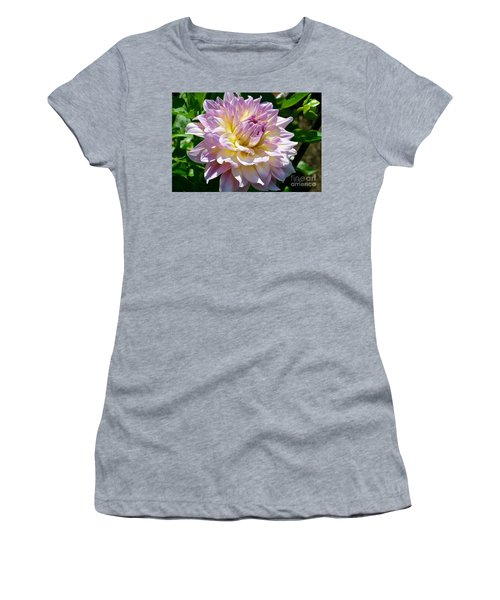 Fancy Dahlia In Pinks Women's T-Shirt (Athletic Fit)