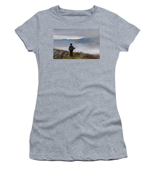 Women's T-Shirt featuring the painting Far Far Away Soria Moria Palace Shimmered Like Gold by Theodor Kittelsen