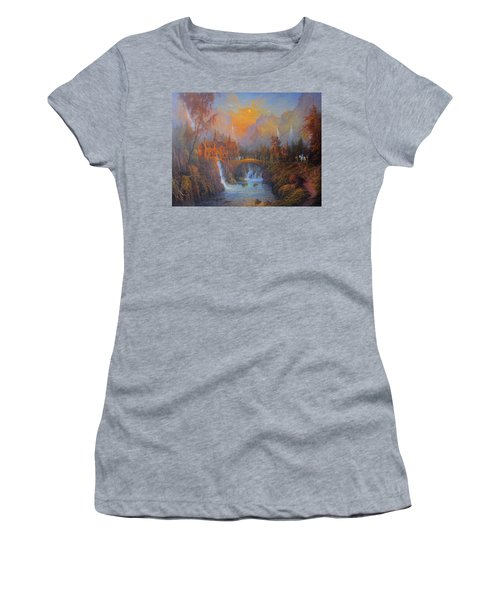 Farewell To Rivendell The Passing Of The Elves Women's T-Shirt (Junior Cut) by Joe  Gilronan