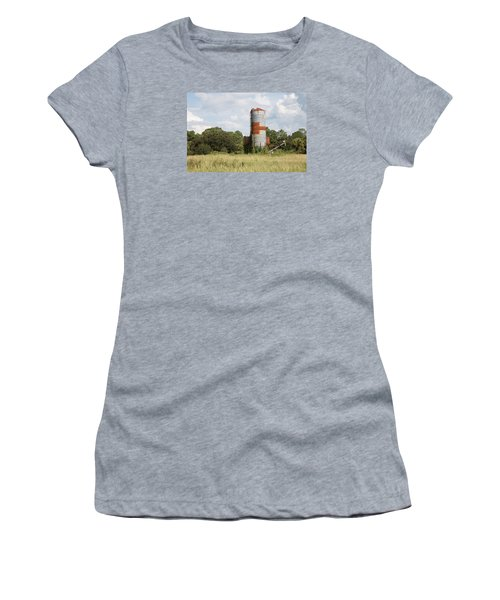 Farm Life - Retired Silo Women's T-Shirt (Junior Cut) by Christopher L Thomley