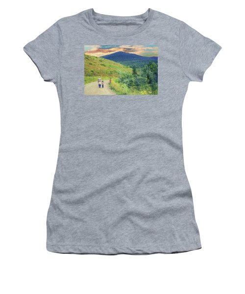 Father And Children Walking Together Women's T-Shirt