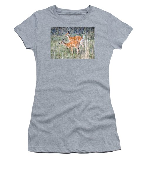 Fawns At Bigfork Women's T-Shirt (Athletic Fit)