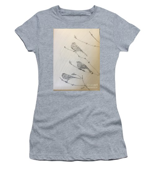Feathers Friends Women's T-Shirt (Athletic Fit)