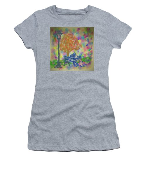 Feeding The Birds Women's T-Shirt (Junior Cut) by Kevin Caudill
