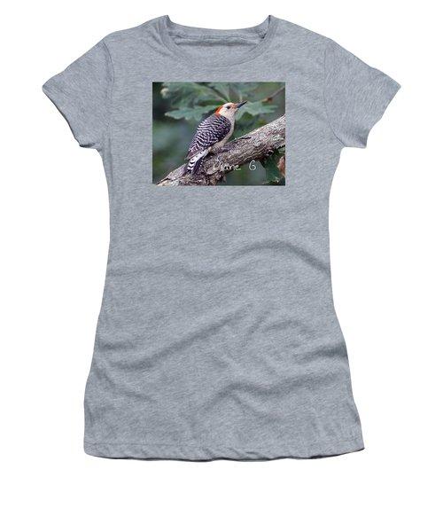 Female Red-bellied Woodpecker Women's T-Shirt (Junior Cut) by Diane Giurco