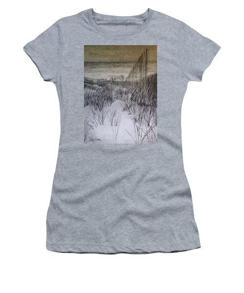 Fence In The Dunes Women's T-Shirt