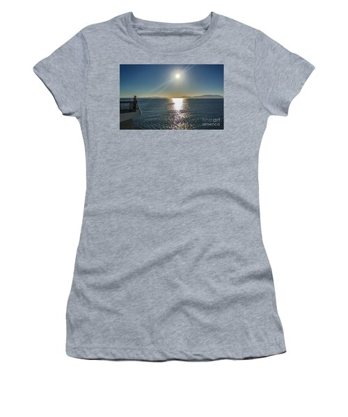 Ferry To The San Juan's Women's T-Shirt (Junior Cut) by William Wyckoff