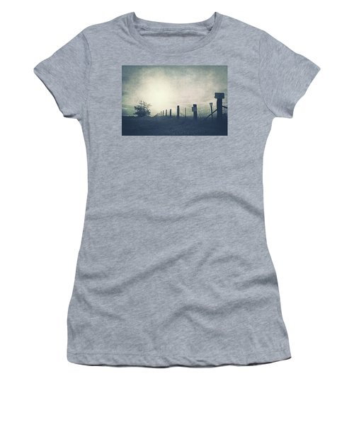 Field Beyond The Fence Women's T-Shirt (Athletic Fit)
