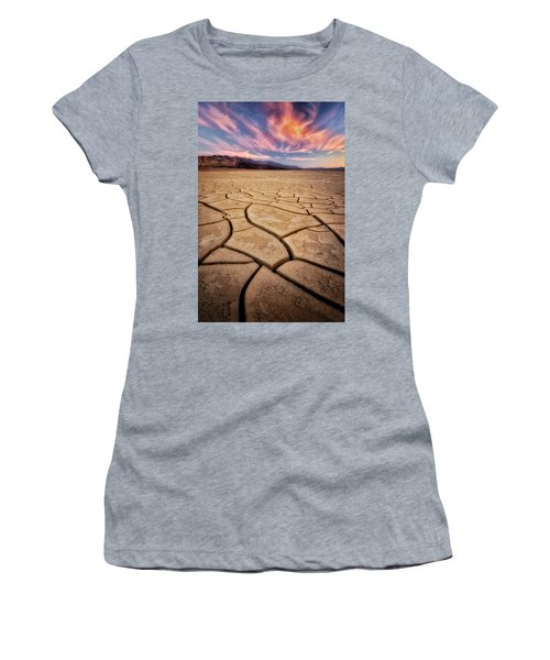 Field Of Cracks Women's T-Shirt (Athletic Fit)