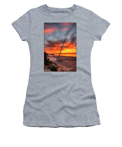 Fiery Sunset Women's T-Shirt (Junior Cut) by John Loreaux