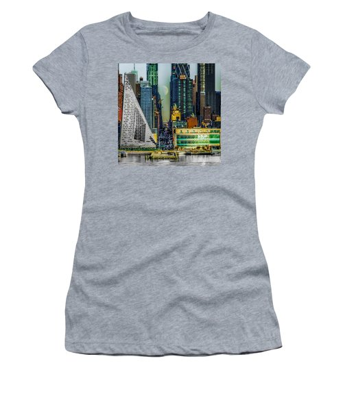 Women's T-Shirt (Athletic Fit) featuring the photograph Fifty-seventh Street Fantasy by Chris Lord